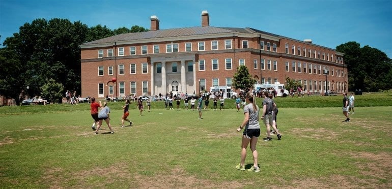 The Summer Management Program at WFU held their Food Truck / Kickball event in front of Ferrell Hall on 5/25/16.