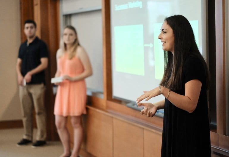 Wake Forest Univ. School of Business Summer Management Program Classrooms and Presentations. 6/30/16