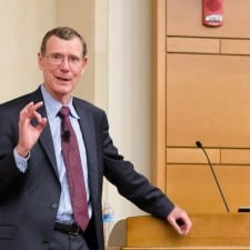 Students and faculty gather to listen to John Allison, former CEO of the Cato Institution, to speak on October 24th, 2015 in Farrell Hall.