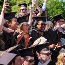 WFUSB graduates at commencement